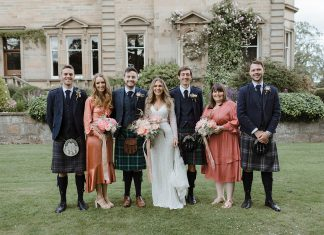Karen Willis Holmes bride Errol Estate wedding  - A Karen Willis Holmes Bride & her Aussie, Boho, Nordic Vibes Wedding in Scotland