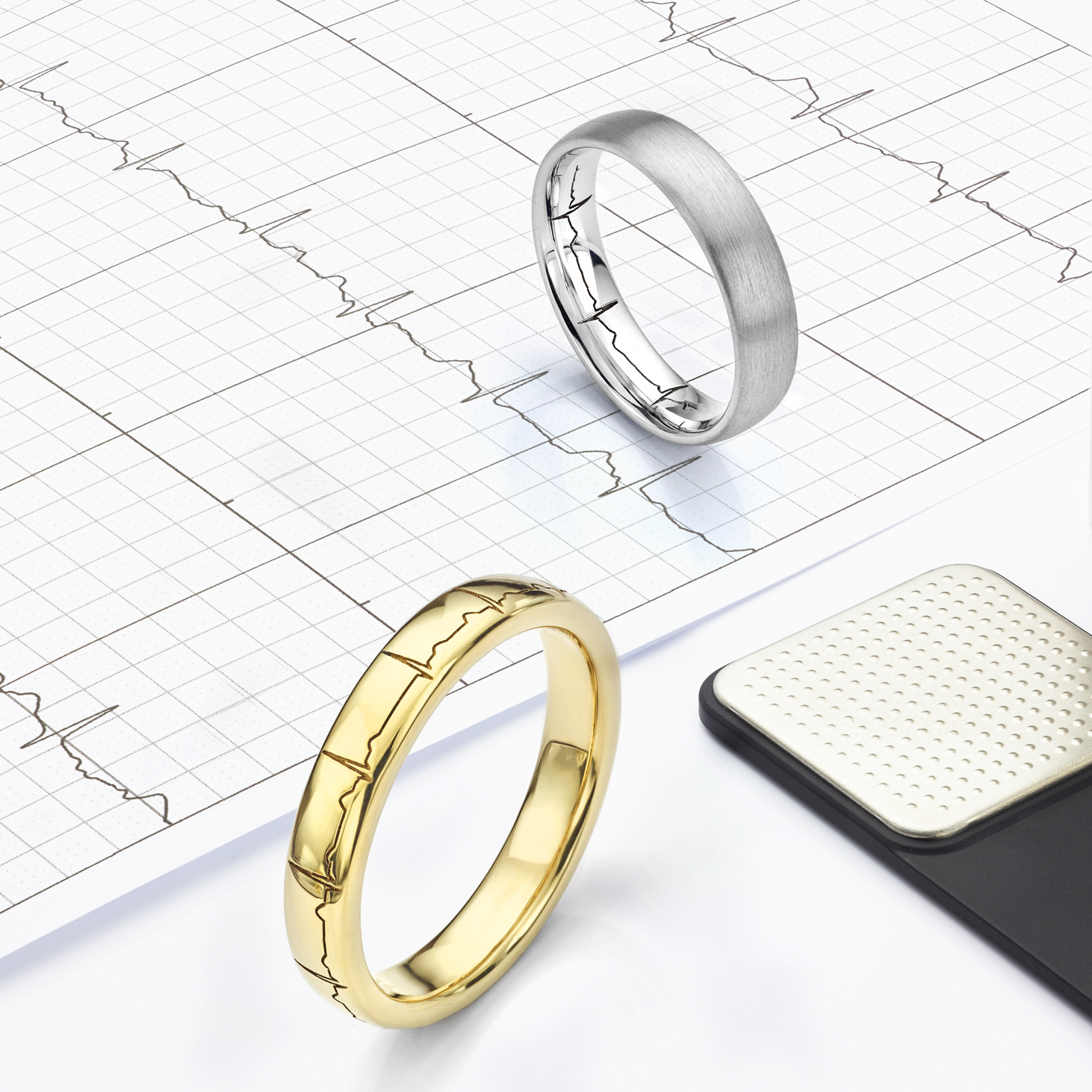 When to order your wedding rings, showing heartbeat rings taking around 5-6 weeks to create