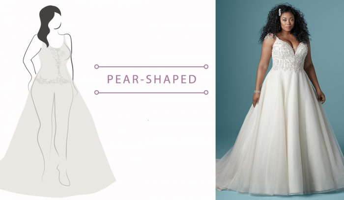 Wedding Dress Guide for Pear-shaped brides
