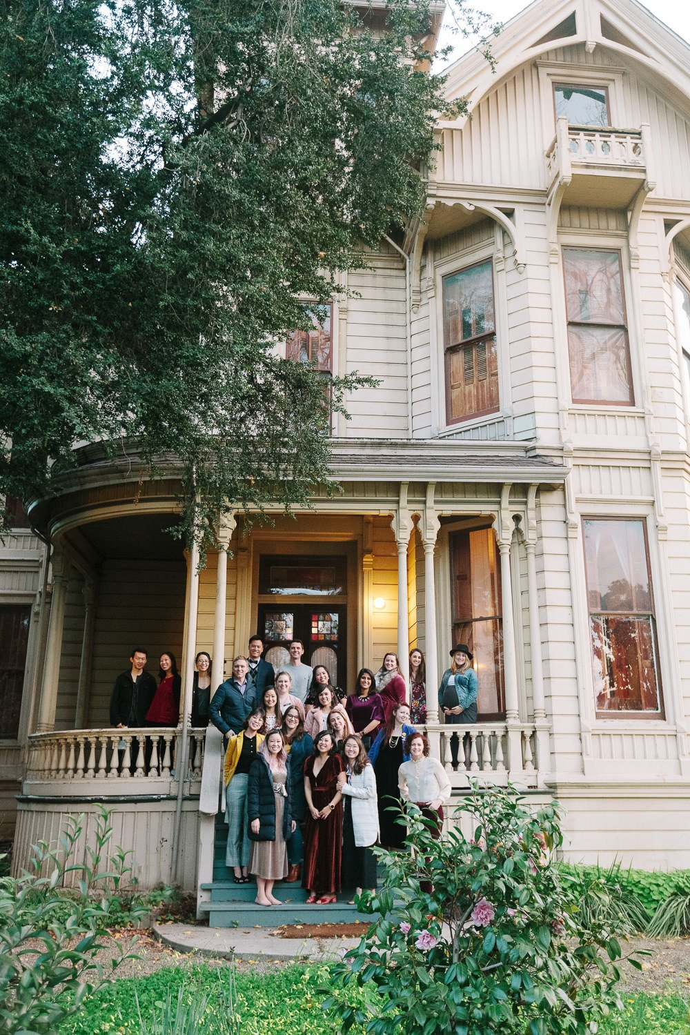 guests in front of Cohen Bray House in California