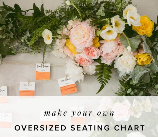 Seating Chart Frame DIY