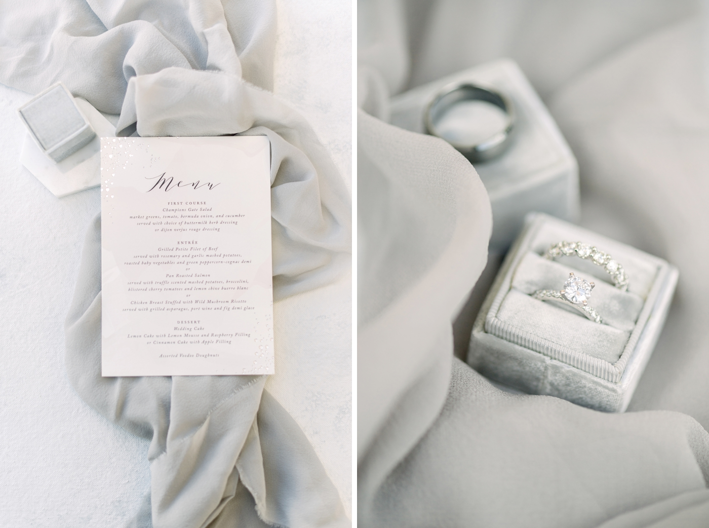 gray wedding details