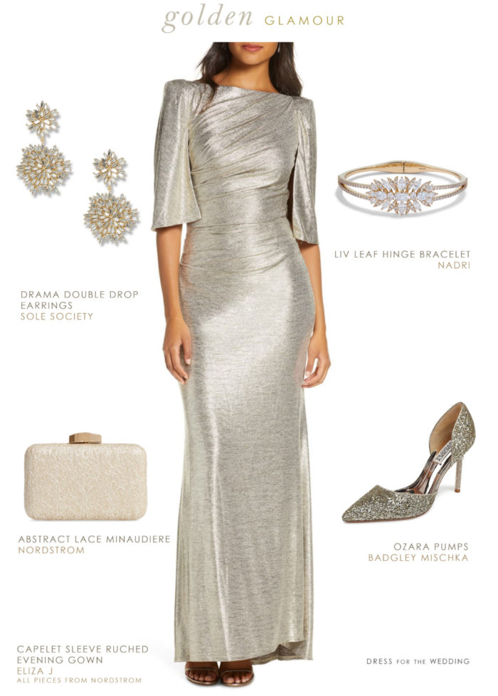 Gold gown for winter formal