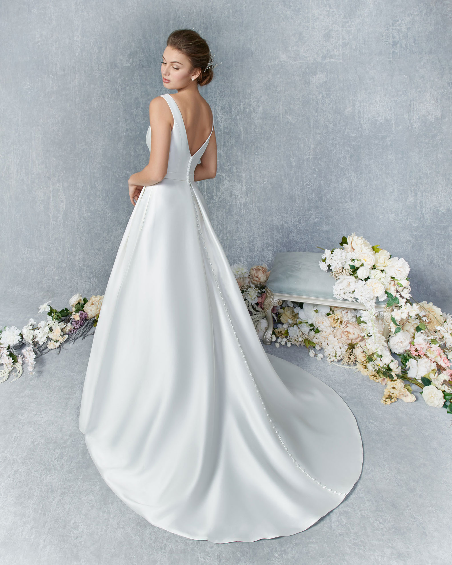 Kenneth Winston, style 1841 - Elegant High Neck Gown That is Perfect for Your Wedding Style