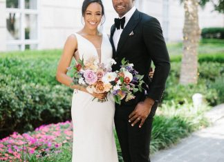 Modern Black Tie Wedding With Two Reception Looks in Dallas ⋆ Ruffled