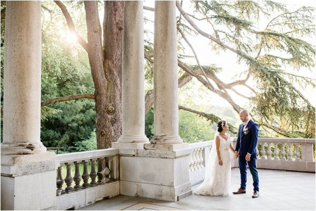 Chateau Bouffemont real wedding couple