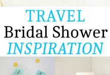 Travel Bridal Shower Inspiration board. Get tons of ideas for a travel bridal shower.