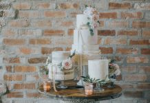 Country Luxe Wedding - White Rose Cake Design West Yorkshire Cake Maker - Stewart Barker Photography Wedding Cake Display