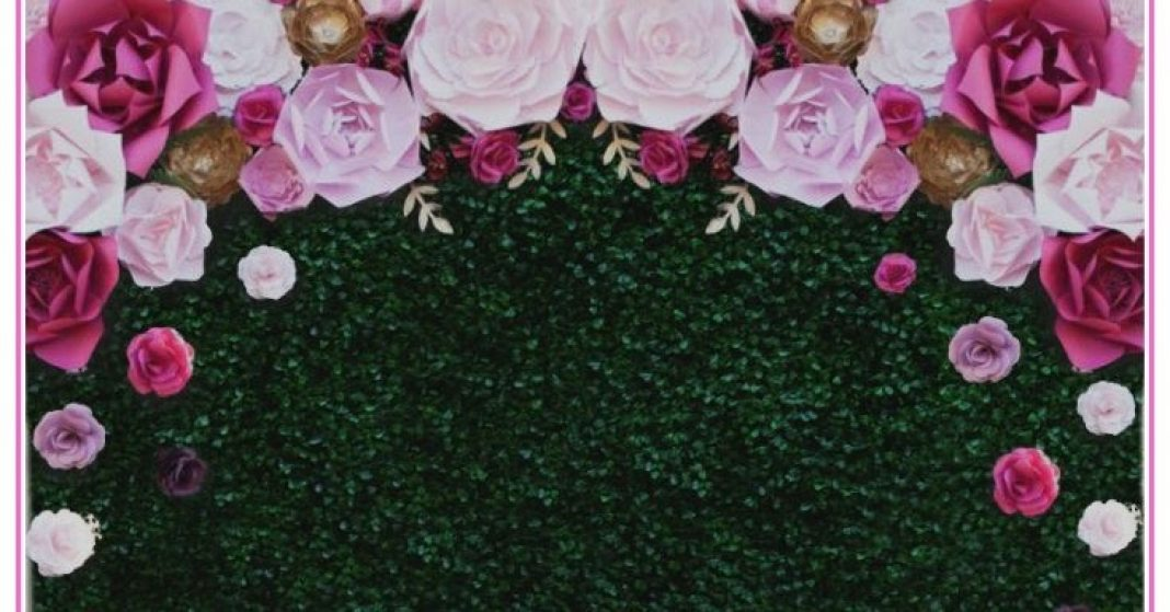 How To Create A DIY Floral Garden Boxwood Backdrop