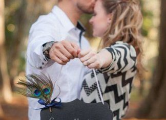 Chalkboard Save The Date Photo Idea