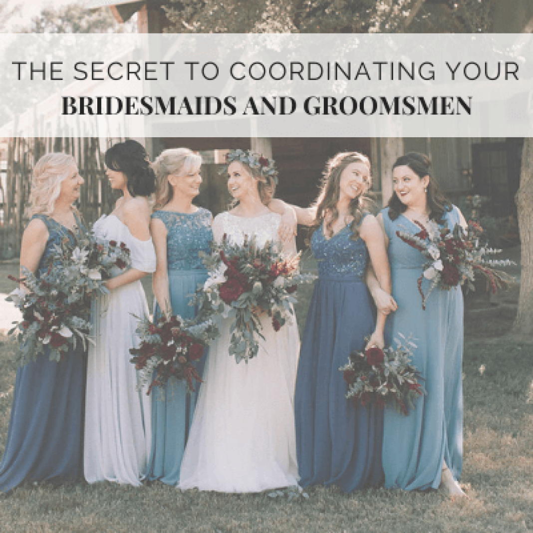 The Secret to Coordinating Bridesmaids and Groomsmen – Wedding Shoppe Inc
