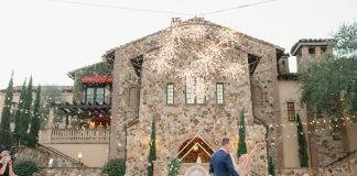 They danced in the snow at this winter Bella Collina wedding