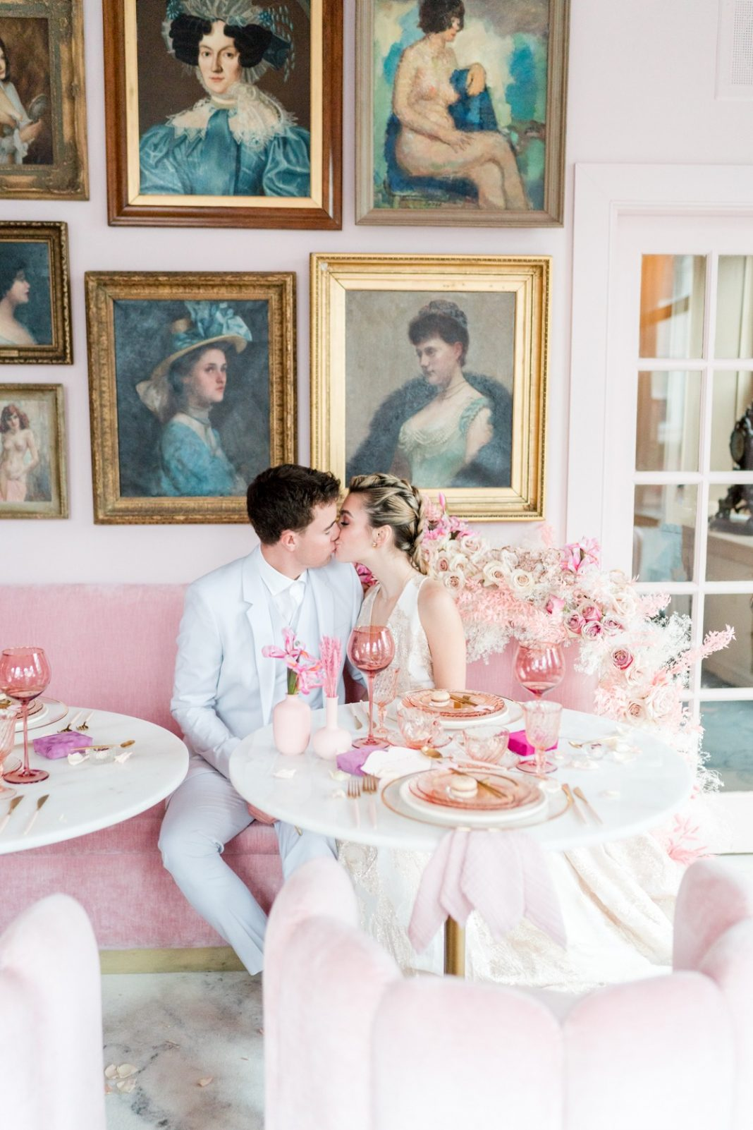 This Valentine's Day Wedding Inspiration Will Have You Tickled Pink! ⋆ Ruffled