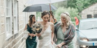 A Topshop Wedding Dress, Dried Flower Bouquet & Street Food, for a Sustainable + Environmentally Friendly Wedding
