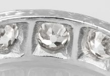 old cut diamonds within ring