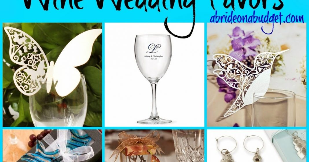 Wine Wedding Favors | A Bride On A Budget