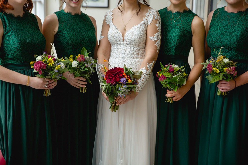 Bouquet Flowers Bride Bridal Bridesmaids Sheffield Town Hall Wedding Mark Newton Wedding Photography