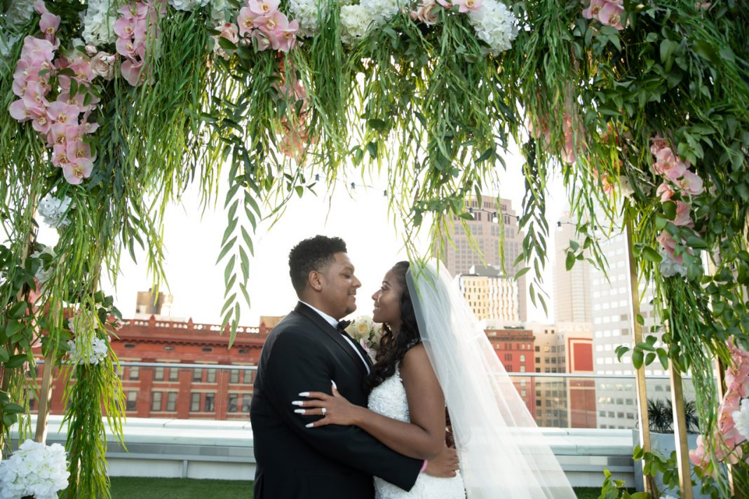 A Glam Summer Wedding in the City