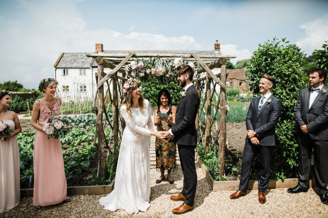 A Grace Loves Lace Dress for a Nature Inspired, Unplugged Wedding at River Cottage in Devon