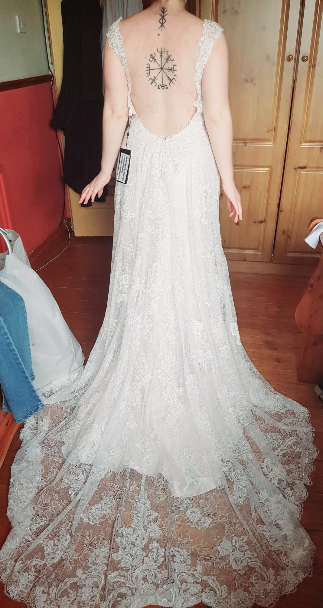 My cocomelody dress, this is before alterations. I'm so happy with the quality of it, I can't wait for the big day in October.