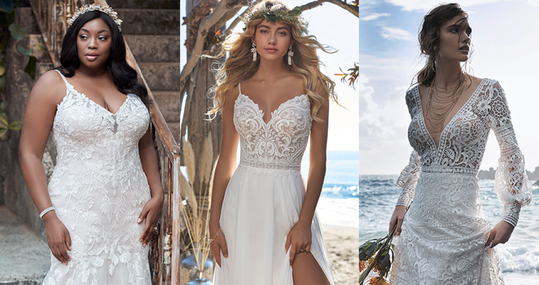 Collage of Top Wedding Dresses from Maggie Sottero's Fall 2020 Collection