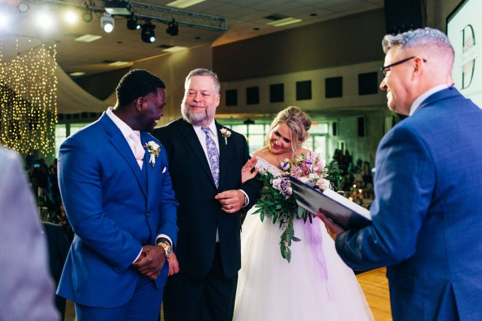 Father of the Bride Giving Bride Away at Real Wedding Ceremony in Florida
