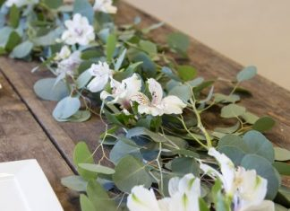 DIY Eucalyptus Greenery and Flower Garland