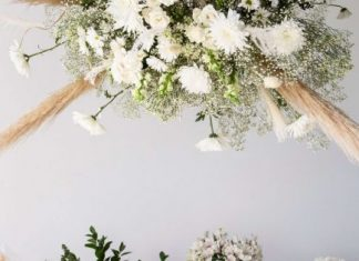 DIY Hanging Wedding Flowers Installation