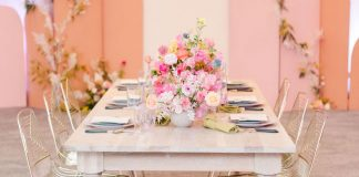 Colorful Mid-Century meets Modern Wedding Inspiration at the W Hotel - Inspired by This