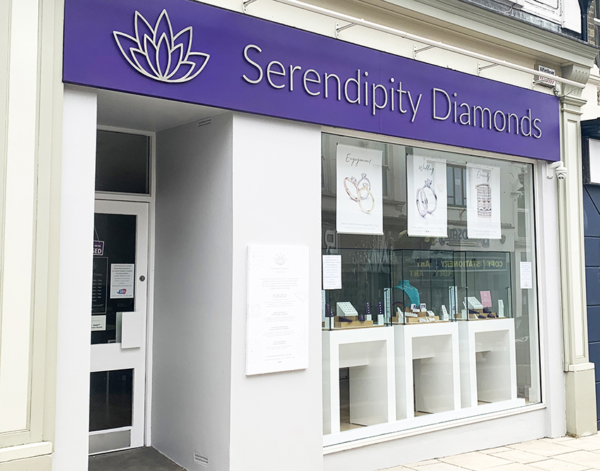 Repainted and re-open the Serendipity Diamonds showroom