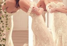 An Elegant and Feminine Bridal Gown