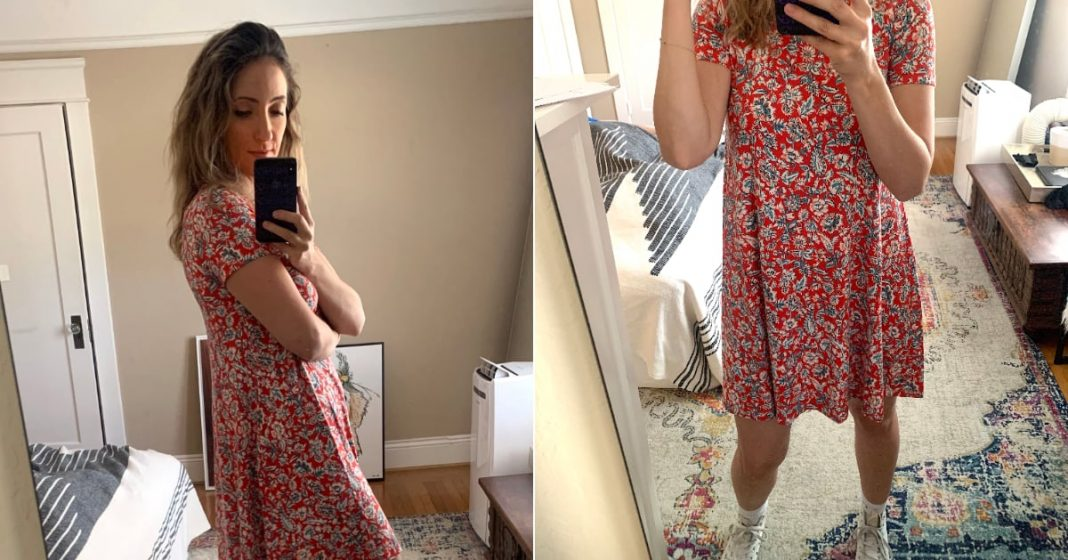Comfortable Floral Dress at Old Navy   Editor Review