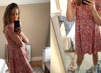 Comfortable Floral Dress at Old Navy | Editor Review