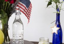 DIY Red, White, and Blue Holiday Bouquets