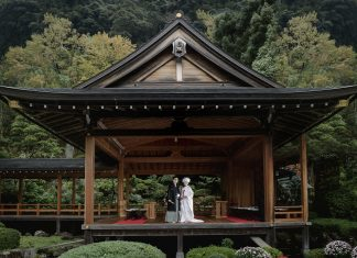 Elope on a Noh Stage in Japan • Adventure Elopements in Japan