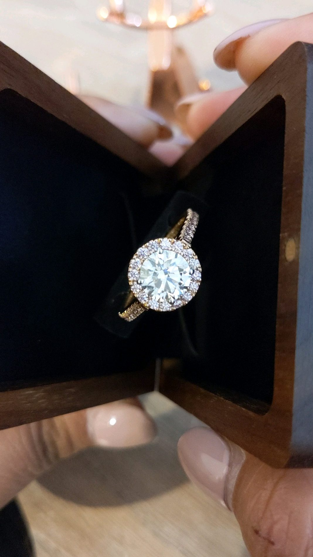 Won't have my ring for up to 2 weeks while they make my wedding band. It's been 24 hours and just looking at my library to help with the crazy lol