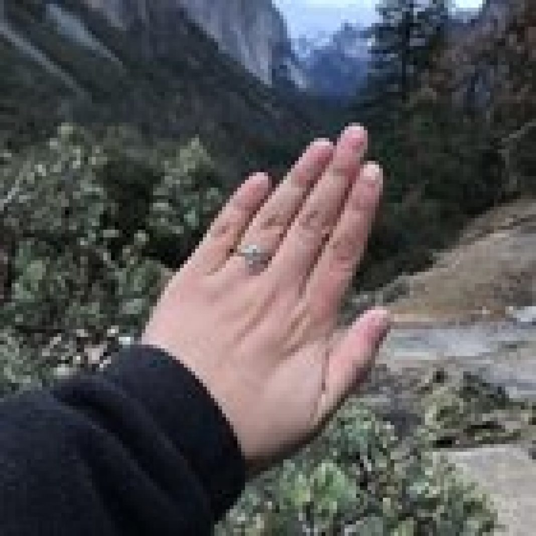 Got engaged at Tunnel View, Yosemite a little while ago! He surprised me with my birthstone, aquamarine, a stone I hold near and dear to my heart.