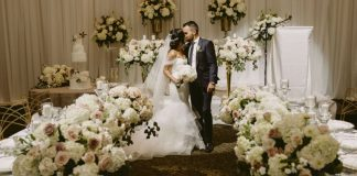 A gorgeous wedding with many florals