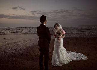 An Intimate Sunrise Wedding Full of Photo Ops