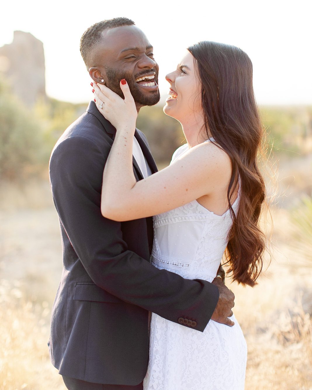 Glowy Desert Engagement