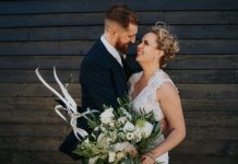 The Barns East Yorkshire Wedding Rustic DIY Grey Hues & Greenery