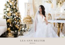 Gorgeous and Golden Christmas Wedding