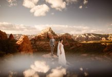 sunset sky wedding photo 2020 favorite moments