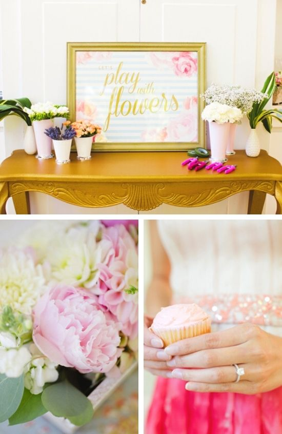Pretty Cake and Frills Bridal Shower Party tablescape