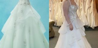 """Got my dress yesterday and when I got it home, I saw that the tag said """"Disney Fairytale Weddings by Alfred Angelo"""" and I got so excited because I love his dresses! I went to search online but can't find the dress anywhere and I'm anxious to know which character's dress it is. Anyone know which one?"""