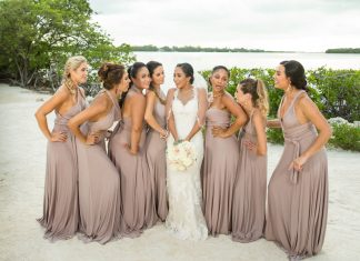 Beach Bridesmaid Dresses from Real Weddings