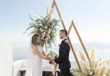 destination elopement ceremony in Greece
