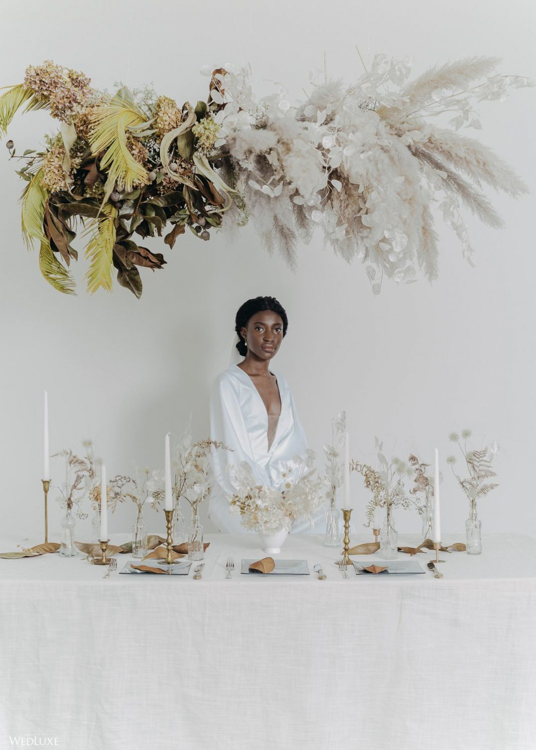 Dried Floral / Grasses Trend ~ WedLuxe Magazine