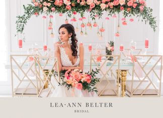 Modern Coral Wedding Inspiration Shoot with Gold, Aqua + White