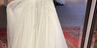 I found my dress the other day! The embroidery stitching is green 😍